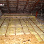 Zateplení půdního prostoru, stropů - RD Bořitov