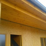 Obložení krovů, klempířské práce - dřevostavba Těchov