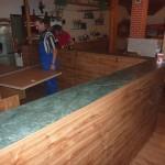 Výroba baru - kout na přípravu pizzy Restaurace Dělnický dům Blansko