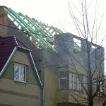 Nástavba z Ytongů, zvednutí krovů - Blansko ul. Masarykova