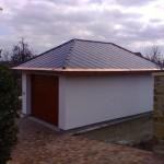 Fasáda Baumit, střecha pokryta střešní taškou Beronit - RD Sejřek