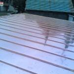 Garážové stání z falcované krytiny z Cu plechu, tesařské práce - Vyškov